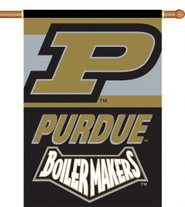 "Purdue Boilermakers 2-Sided 28"" X 40"" Banner w/ Pole Sleeve"