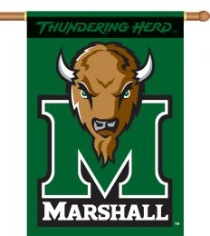 "Marshall Thundering Herd 2-Sided 28"" X 40"" Banner w/ Pole Sleeve"