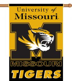 "Missouri Tigers 2-Sided 28"" X 40"" Banner w/ Pole Sleeve"