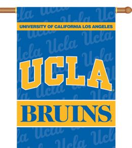"Ucla Bruins School Logo 2-Sided 28"" X 40"" Banner w/ Pole Sleeve"