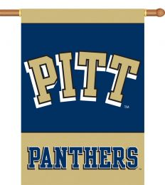 "Pittsburgh Panthers NCAA 2-Sided 28"" X 40"" Banner w/ Pole Sleeve"