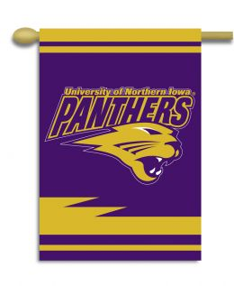 "Northern Iowa College Logo 2-Sided 28"" X 40"" Banner w/ Pole Sleeve"
