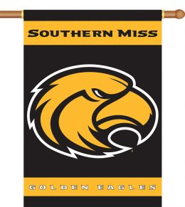 "Southern Miss Golden Eagles 2-Sided 28"" X 40"" Banner Team Logo"