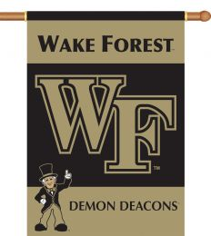 "Wake Forest Logo 2-Sided 28"" X 40"" Outdoor Banner w/ Pole Sleeve"