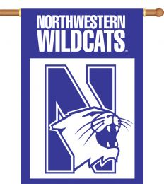 "Northwestern Wildcats 2-Sided 28"" X 40"" Banner w/ Pole Sleeve"