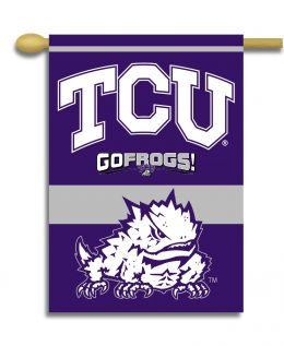 "Texas Christian Horned Frogs 2-Sided 28"" X 40"" Banner w/ Pole Sleeve"