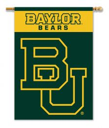 "Baylor Bears College Logo 2-Sided 28"" X 40"" Banner w/ Pole Sleeve"