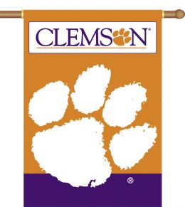 "Clemson Tigers 2-Sided 28"" X 40"" Banner w/ Pole Sleeve NCAA Logo"