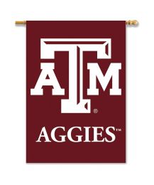 "Texas A&M Aggies 2-Sided 28"" X 40"" Banner w/ Pole Sleeve Team Logo"