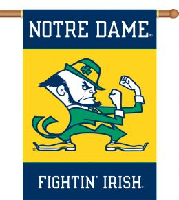 "Notre Dame Team Logo 2-Sided 28"" X 40"" Banner w/ Pole Sleeve"