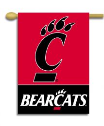 "Cincinnati Bearcats Logo 2-Sided 28"" X 40"" Banner w/ Pole Sleeve"