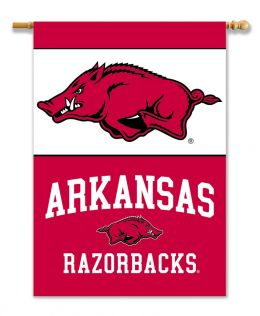 "Arkansas Razorbacks 2-Sided 28"" X 40"" NCAA Banner w/ Pole Sleeve"