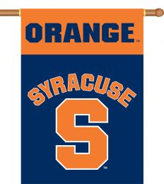 "Syracuse Orange College Logo 2-Sided 28"" X 40"" Banner w/ Pole Sleeve"