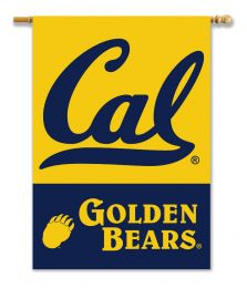 "Cal Berkeley Golden Bears 2-Sided 28"" X 40"" Banner w/ Pole Sleeve"