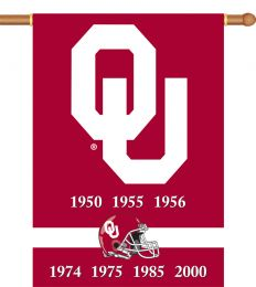 "Oklahoma Sooners Champ Years 2-Sided 28"" X 40"" Banner"