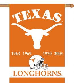 "Texas Longhorns Champ Years 2-Sided 28"" X 40"" Banner w/ Pole Sleeve"
