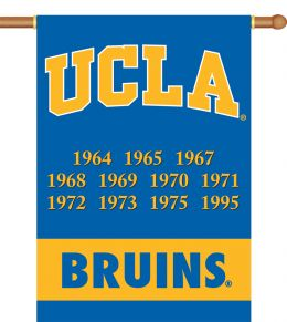 "Ucla Bruins Logo Champ Years 2-Sided 28"" X 40"" Banner w/ Pole Sleeve"
