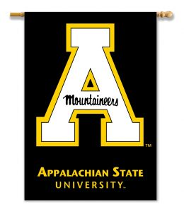 "Appalachian State 2-Sided 28"" X 40"" White Logo Flag w/ Pole Sleeve"