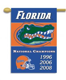 "Florida Gators Champ Years 2-Sided 28"" X 40"" Banner w/ Pole Sleeve"