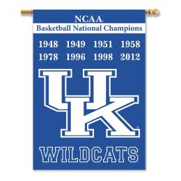 "Kentucky Wildcats Champ Years 2-Sided 28"" X 40"" Banner"