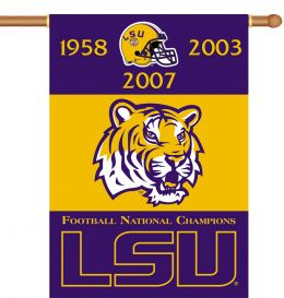 "Louisiana State Tigers Champ Years 2-Sided 28"" X 40"" Banner Sleeve"