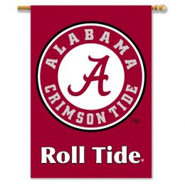 "Alabama Crimson Tide 2-Sided 28"" X 40"" Roll Tide Logo Banner"