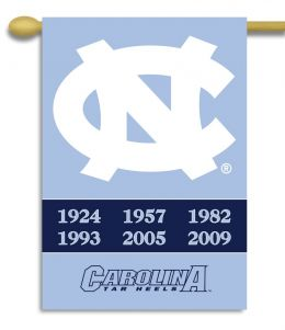 "North Carolina Tar Heels Champ Years 2-Sided 28"" X 40"" Banner"