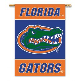 "Florida Gators College Logo 2-Sided 28"" X 40"" Banner w/ Pole Sleeve"