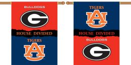 "Georgia vs Auburn 2-Sided 28"" X 40"" Banner House Divided"