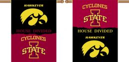 "Iowa vs Iowa State 2-Sided 28"" X 40"" Banner House Divided"