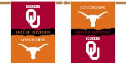 "Oklahoma vs Texas 2-Sided 28"" X 40"" Banner  House Divided"
