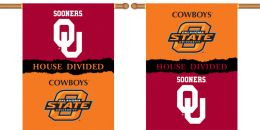 "Oklahoma vs Ok St. 2-Sided 28"" X 40"" Banner House Divided"