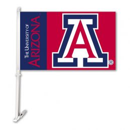 Arizona Wildcats NCAA Team Logo Car Flag w/ Wall Brackett
