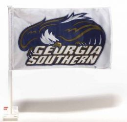 Georgia Southern Eagles College Team Logo Car Flag w/Wall Brackett