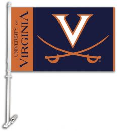 Virginia Cavaliers NCAA Team Logo Car Flag w/Wall Brackett