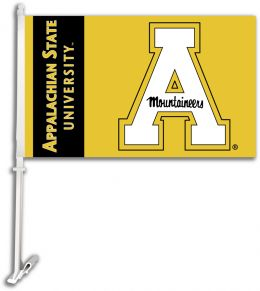 Appalachian State University Logo Car Flag w/Wall Brackett