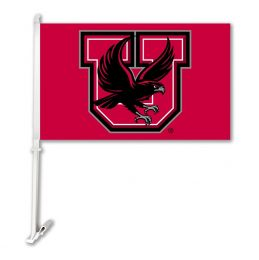 Utah Utes Car Flag w/Wall Brackett NCAA College Team Logo