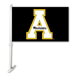 Appalachian State School Logo Car Flag w/Wall Brackett