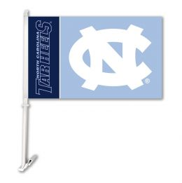 North Carolina Tar Heels Team Logo Car Flag w/Wall Brackett