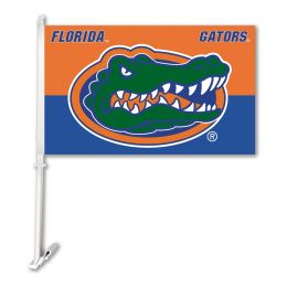 Florida Gators College Team Logo Car Flag w/Wall Brackett