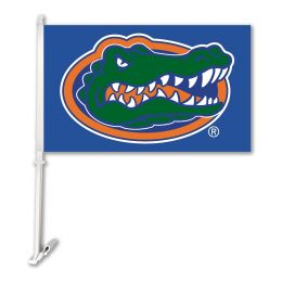 Florida Gators Car Flag w/Wall Brackett NCAA Team Logo