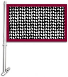 Alabama Crimson Tide Checkered Design Car Flag w/ Brackett