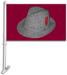 "Alabama Crimson Tide ""Bear"" Bryant Hat Car Flag w/ Brackett"
