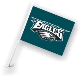 Philadelphia Eagles Car Flag w/Wall Brackett NFL Team Logo