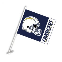 San Diego Chargers Car Flag w/Wall Brackett NFL Team Logo