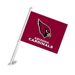 Arizona Cardinals NFL Team Logo Car Flag w/Wall Brackett
