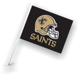 New Orleans Saints Car Flag w/Wall Brackett NFL Team Logo