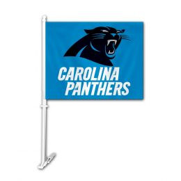 Carolina Panthers Car Flag w/Wall Brackett NFL Team Logo