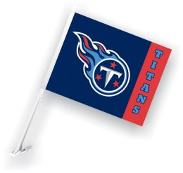 Tennessee Titans Car Flag w/Wall Brackett NFL Team Logo