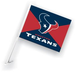 Houston Texans Car Flag w/Wall Brackett NFL Team Logo